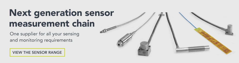 sensor measurement chain, sensors, pressure sensors, sensor range, accelerometers, air gap, vibration, piezoelectric, Vibro-Meter, Meggitt